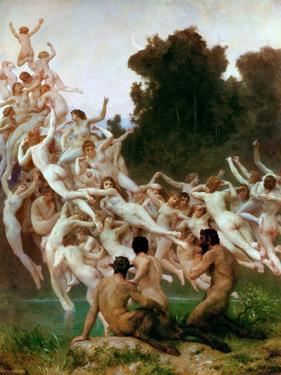 The Oreads (Les Oréade) by William-Adolphe Bouguereau