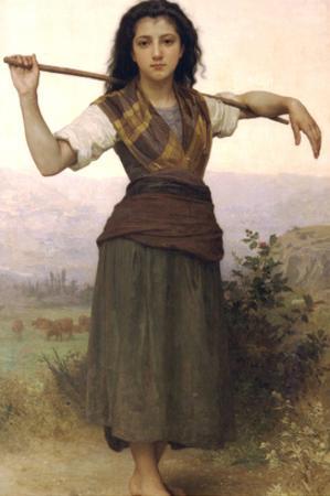 The Shepherdess by William Adolphe Bouguereau