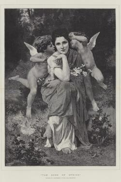 The Song of Spring, in the Paris Exhibition by William-Adolphe Bouguereau