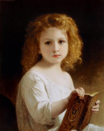 The Story Book by William Adolphe Bouguereau