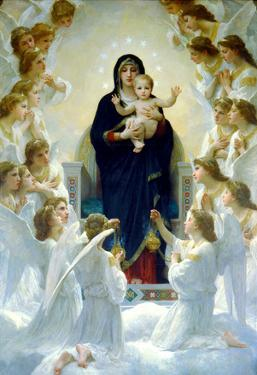 William-Adolphe Bouguereau The Virgin With Angels Art Print Poster