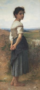 The Young Shepherdess, 1885 by William-Adolphe Bouguereau
