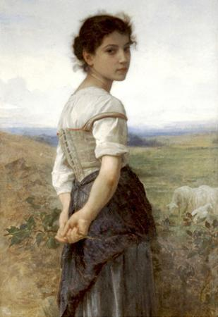 William-Adolphe Bouguereau The Young Shepherdess Art Print Poster
