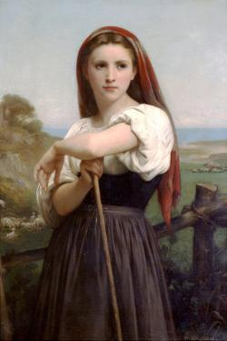 The Young Shepherdess by William Adolphe Bouguereau