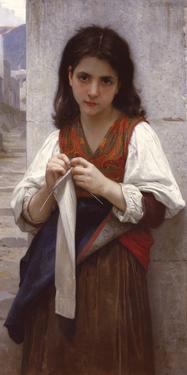 Tricoteuse by William Adolphe Bouguereau