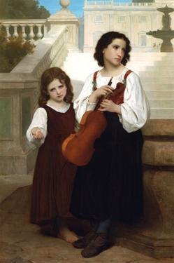 Violin in the Country by William Adolphe Bouguereau