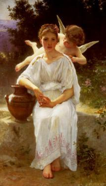 Whisperings of Love, 1889 by William Adolphe Bouguereau