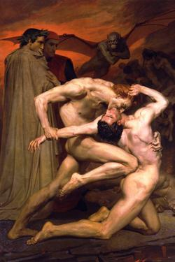 William-Adolphe Bouguereau Dante And Virgil In Hell by William Adolphe Bouguereau
