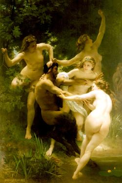 William-Adolphe Bouguereau Nymphs and Satyr by William Adolphe Bouguereau