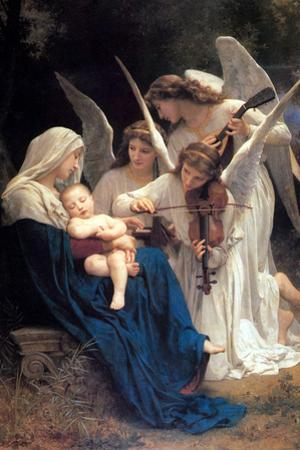 William-Adolphe Bouguereau Song of the Angels by William Adolphe Bouguereau
