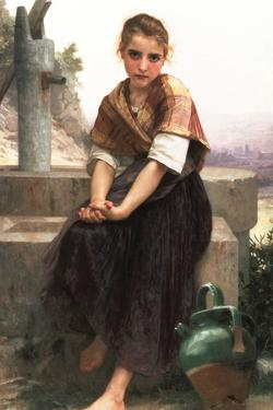 William-Adolphe Bouguereau The Broken Pitcher by William Adolphe Bouguereau