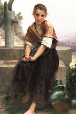 William-Adolphe Bouguereau The Broken Pitcher by William Adolphe Bouguereau