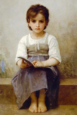 William-Adolphe Bouguereau The Difficult Lesson by William Adolphe Bouguereau