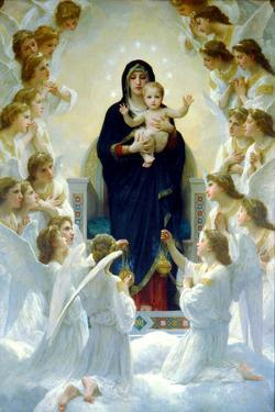 William-Adolphe Bouguereau The Virgin With Angels by William Adolphe Bouguereau