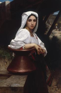 Young Italian Girl Drawing Water From A Well, 1871 by William Adolphe Bouguereau