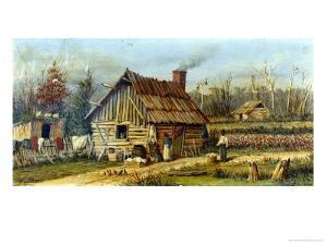 Negro Farmstead in the American South by William Aiken Walker
