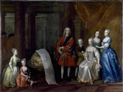 Group Portrait of Frederick, Prince of Wales, with His Brother the Duke of Cumberland and their…