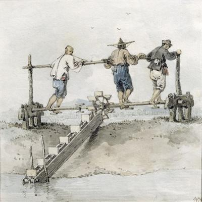 Chinese Labourers Working on a River by William Alexander