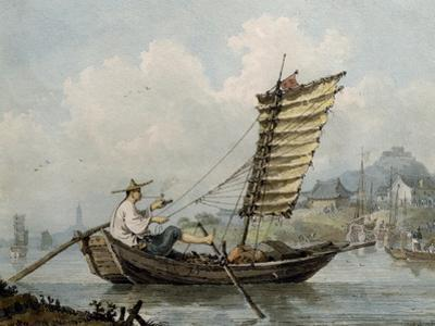 Chinese Sailor Smoking in His Junk, 1795 by William Alexander