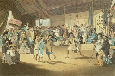 Scene in a Cochin-Chinese Opera, Plate 13 from 'A Voyage to Cochinchina' by John Barrow by William Alexander