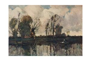 'The Banks of the Loir', c1900 by William Alfred Gibson