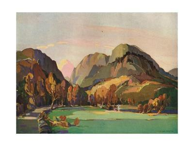 'The Pass of Aberglaslyn', c1927
