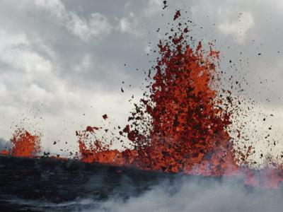 Lava from a Kilauea Sprays High into the Air by William Allen