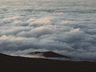 Low-Hanging Clouds Fill the Crater by William Allen