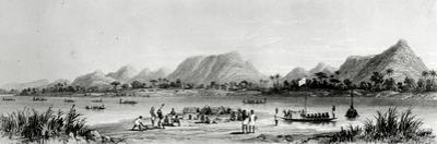 Mountains and Market Canoes Near Bokwen by William Allen