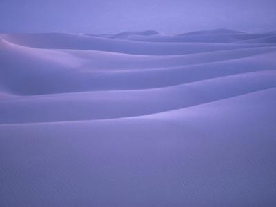 Shifting Dunes of Gypsum Cover White Sands National Monument by William Allen