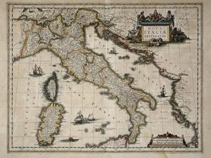 Map of Italy by William and Jan Blaeu