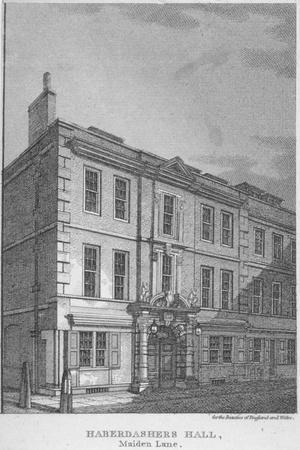 Haberdashers' Hall, City of London, 1811
