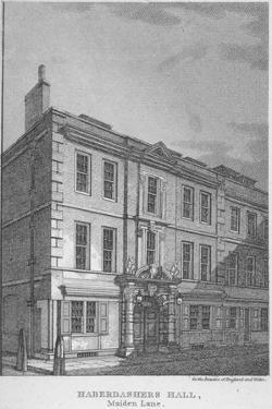 Haberdashers' Hall, City of London, 1811 by William Angus
