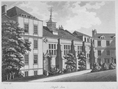 Staple Inn, City of London, 1800