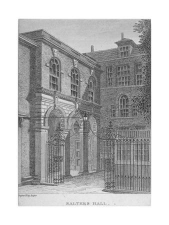 View of Salters' Hall, St Swithin's Lane, City of London, 1800