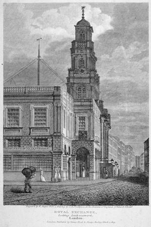 View of the Royal Exchange, Looking South-West, City of London, 1809