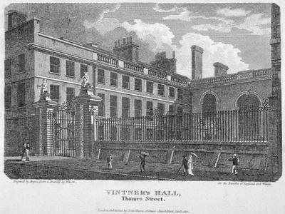 Vintners' Hall, Upper Thames Street, City of London, 1812