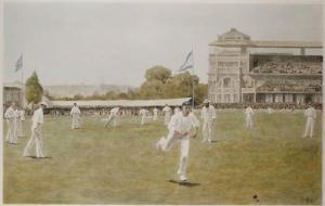 Cricket at Lords, 1896 by William Barnes Wollen
