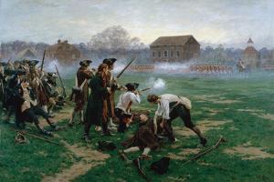 The Battle of Lexington, 19th April 1775, 1910 by William Barnes Wollen
