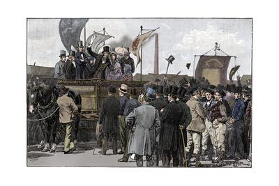The Chartist Demonstration on Kennington Common, 1848, (1900)