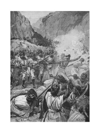 The Punjaubees, After Firing A Volley, Rushed Down And Charged Them With The Bayonet, c1897, (1902