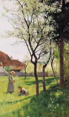 April in the Meadows by William Bartlett