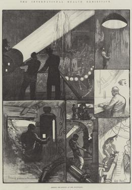 The International Health Exhibition, Behind the Scenes at the Fountains by William Bazett Murray