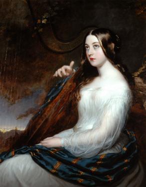 Sarah Curran Playing The Harp, 1800 by William Beechey