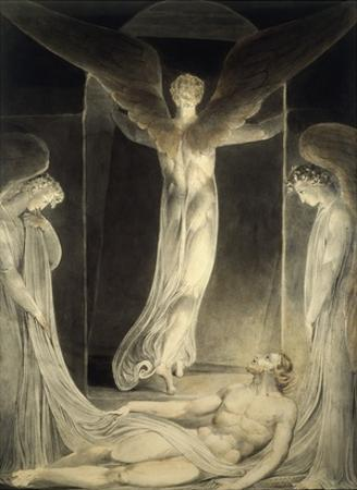 Angels Rolling away the Stone from the Sepulchre by William Blake