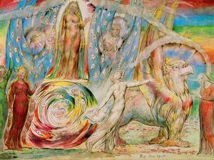 Beatrice addresses Dante from the carriage by William Blake