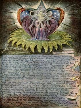 Beulah Throned on a Sun-Flower by William Blake by William Blake