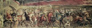 Chaucer's Canterbury Pilgrims, Engraved and Pub. by the Artist, 1810 by William Blake