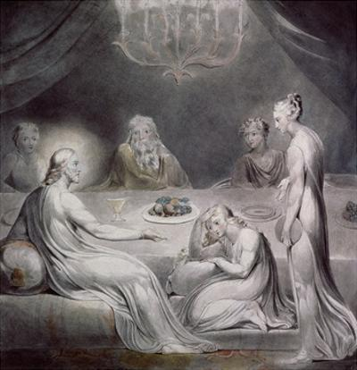 Christ in the House of Martha and Mary by William Blake