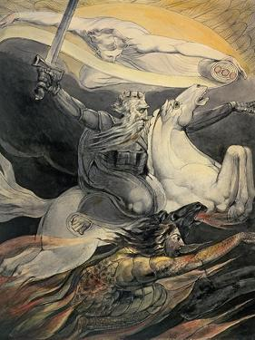 Death on a Pale Horse, C.1800 by William Blake